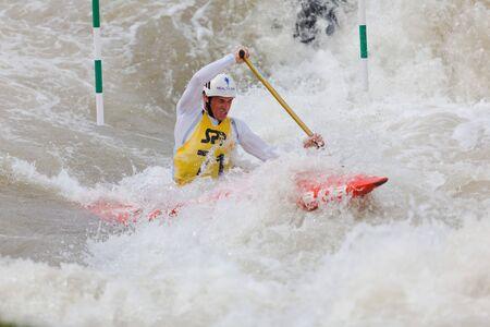 Bratislava - Cunovo, Slovakia - August 13-15 2010 : ECA European Canoe Slalom Championships 2010 - single canoe of Michal Martikan
