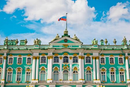 St. Petersburg, Russia - July 8, 2019: Hermitage Museum on Palace Square Редакционное