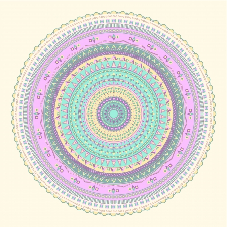 pale yellow: Abstract circular pattern on a pale yellow background Illustration