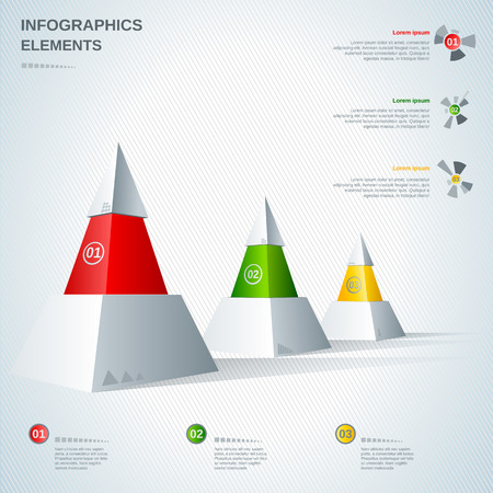 Infographics elements modern pyramid design Vector