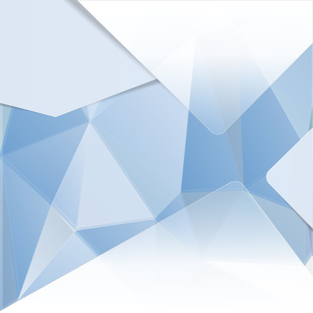 Abstract design template with blue polygons Illustration