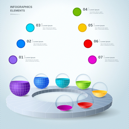 Infographic design elements illustration Vector
