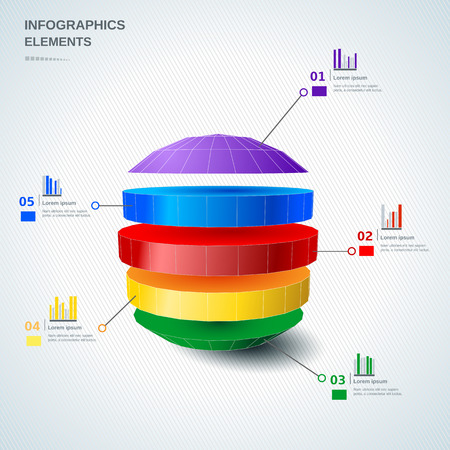 Infographic 3d design elements Ilustração