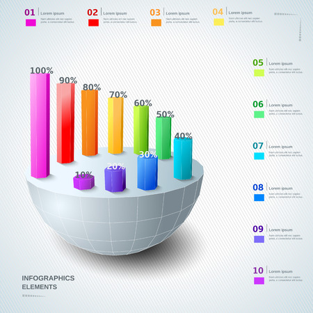 Infographic 3d design elements Illustration
