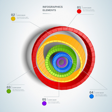 Colorful circle chart for documents and reports