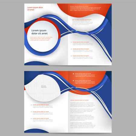 Abstract colored brochure template for business Vector