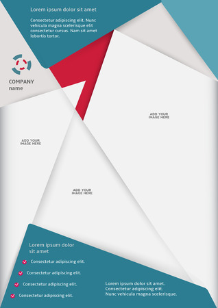 Layout business flyer template or a magazine cover Vector