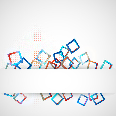 Abstract background with colored squares overlapping