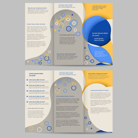 Abstract colored brochure template for your business Vector