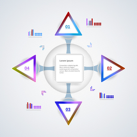 Abstract multicolor template for business and infographic Vector