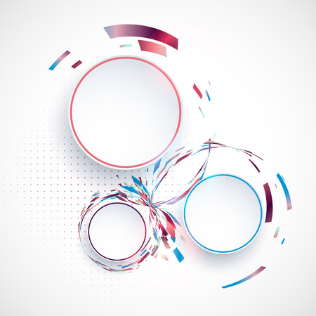 place for the text: Colorful abstract composition with place for text Illustration