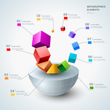 Infographic design elements illustration for business and presentation