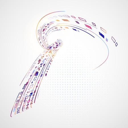 fondo tecnologia: La tecnolog�a de fondo abstracto con rect�ngulos y l�neas de colores Vectores
