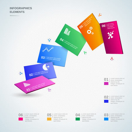 Infographic design elements illustration for business and presentation Vector