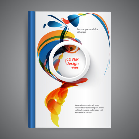 diary page: Abstract modern template book cover