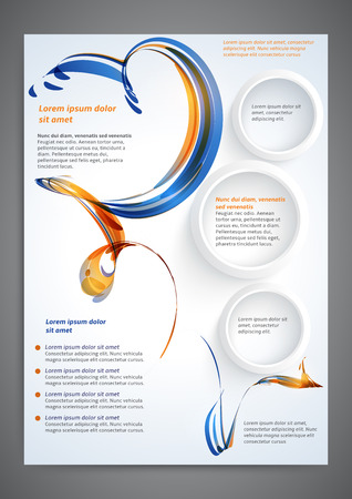 published: Abstract colored flyer template for your business Illustration