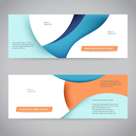 web banner: Abstract web banner or header layout template