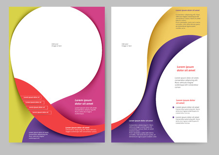layout: Abstract colored brochure template for your business