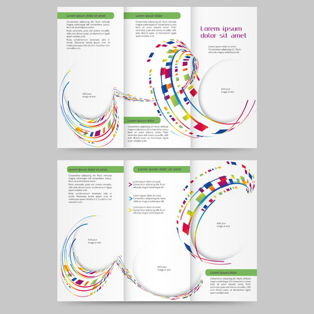print template: Abstract colored brochure template for your business