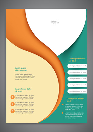 blank brochure: Abstract colored flyer template for your business Illustration