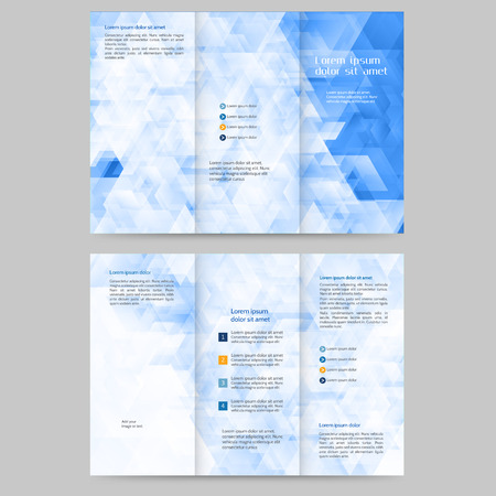 Abstract colored brochure template for your business