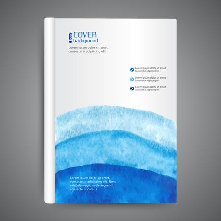 추상 현대 템플릿 책 표지 일러스트