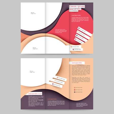 advertising template: Abstract colored brochure template for your business