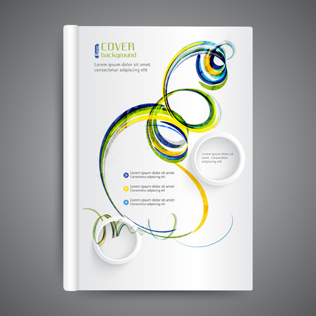 Abstract modern template book cover