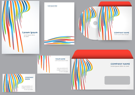 brand identity: Abstract creative corporate identity template Illustration