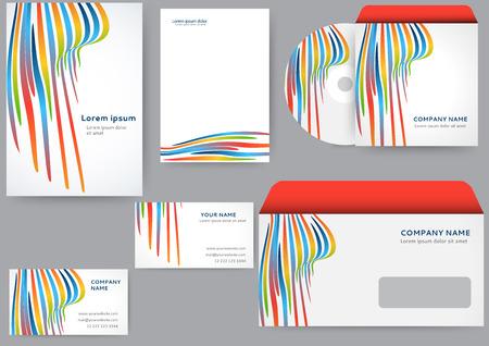 personalausweis: Zusammenfassung kreative Corporate Identity Vorlage