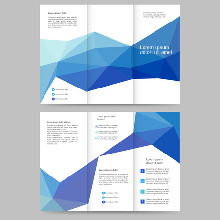 brochure layout: Abstract colored brochure template for your business