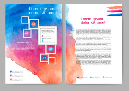 business book: Abstract colored brochure template for your business