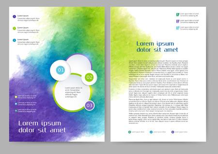 あなたのビジネスのための抽象的な色パンフレット テンプレート  イラスト・ベクター素材
