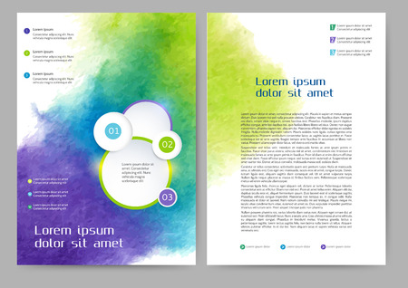 book design: Abstract colored brochure template for your business