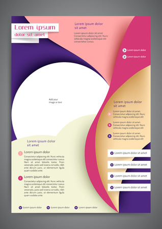 the publisher: Abstract colored flyer template for your business Illustration