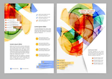 brochure template: Abstract colored brochure template for your business