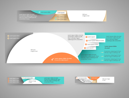 website header: Set of abstract advertising banners for your blog or website