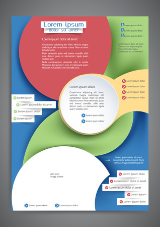 publisher: Abstract colored template for your business Illustration