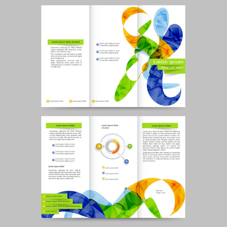promotion: Abstract colored brochure template for your business