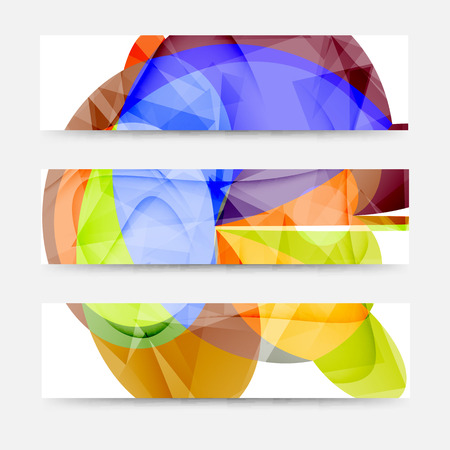 Set of abstract banners, headers for your site or blog