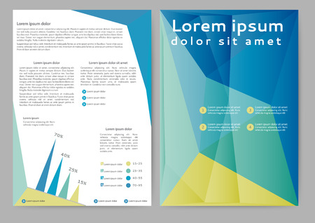 publish: Abstract colored brochure template for your business