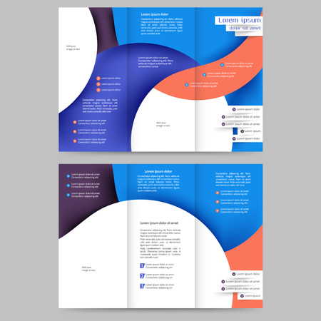 the brochure: Modelo abstracto del folleto de color para su negocio Vectores
