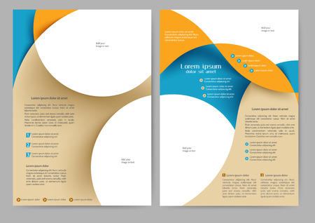 notebook design: Abstract colored brochure template for your business