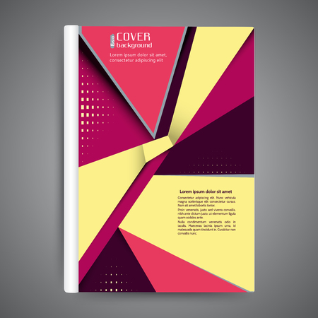 book publisher: Abstract modern template book cover