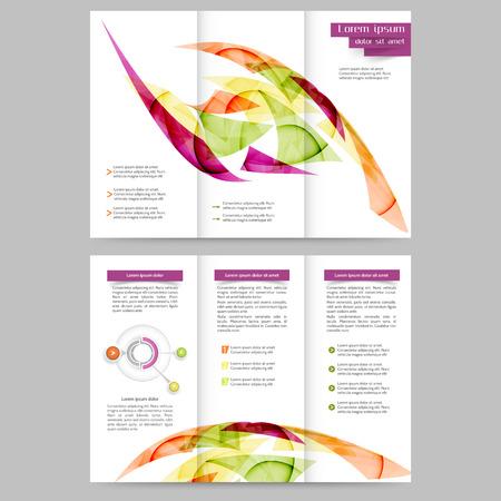 portadas de libros: Modelo abstracto del folleto de color para su negocio Vectores