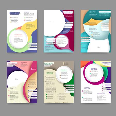 Modello di brochure colorato astratto con linee e onde astratte per il tuo business Vettoriali