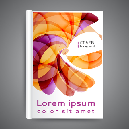 design: Color book design template. Annual report design. Cover design with abstract lines and waves Illustration