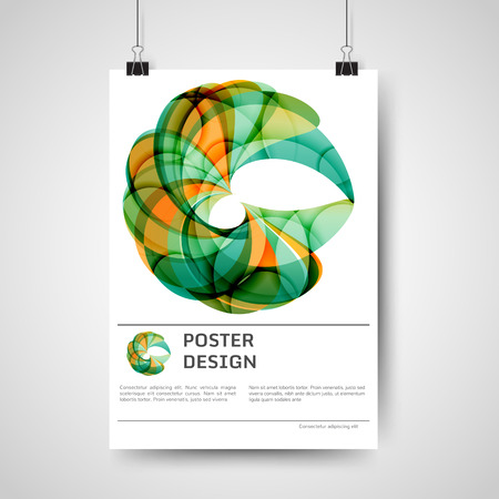 printout: Abstract colorful poster design with geometric elements