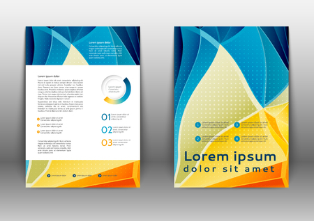 flayer: Abstract color brochure design with geometric elements