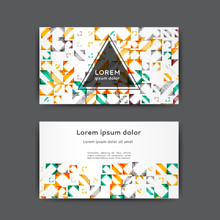 Abstract business card template with geometric elements Stock Illustratie